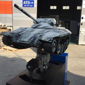 ETRI-3축-모션-테이블-전차-탱크-모형-8